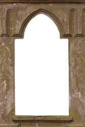 Blank old castle window