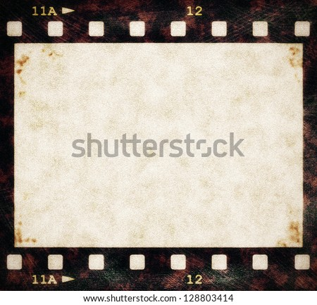 blank old grunge film strip frame background