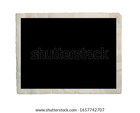 Photo of  Blank old photo isolated on white