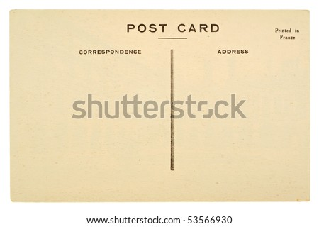 blank postcards on blank old postcard isolated on white background stock photo 53566930