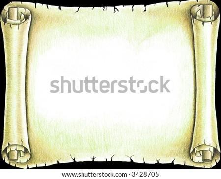 Blank old scroll