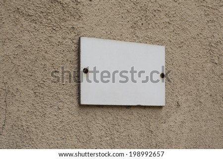 Blank old signs on the wall texture