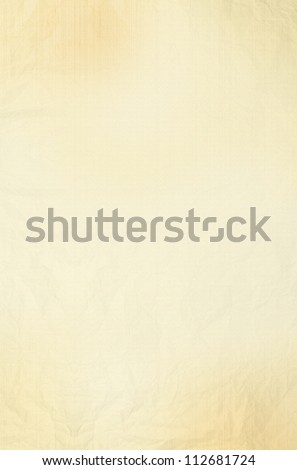 Blank old yellow / gold paper sheet background or textured
