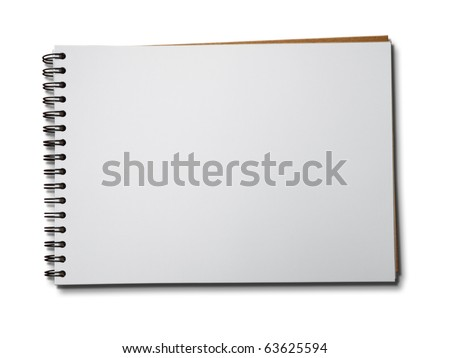 Blank one face white paper notebook horizontal #63625594