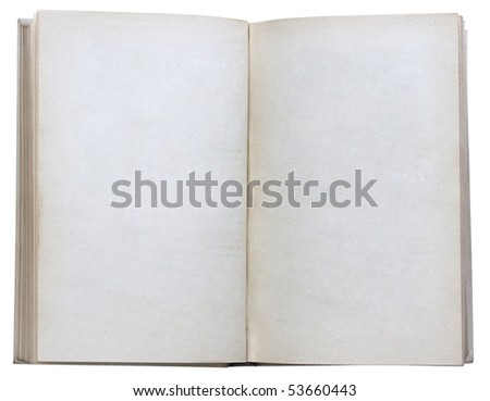 blank open book isolated on white background with clipping path