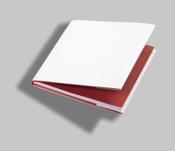 Blank open book white cover w clipping path