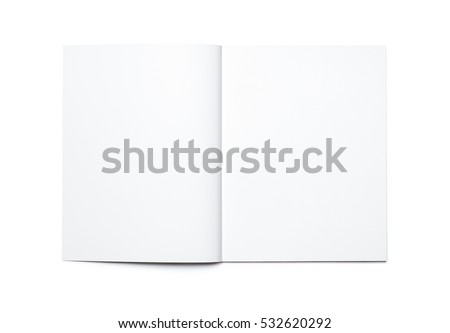 Blank open magazine isolated