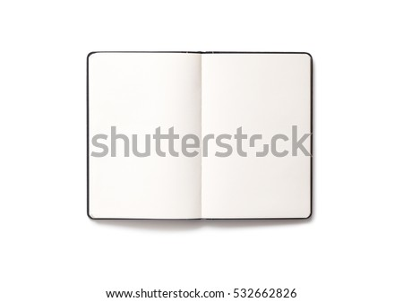 Blank open Notepad isolated - Shutterstock ID 532662826