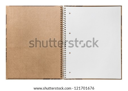 Blank open ring binder