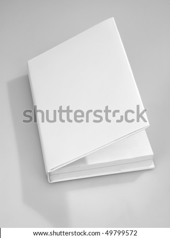Blank opened book cover white
