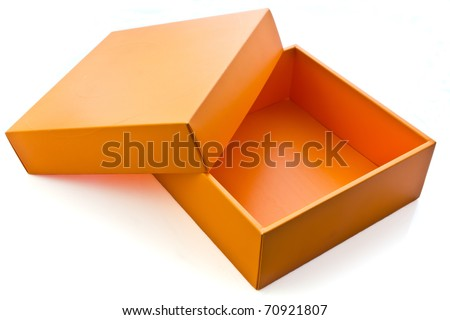Blank orange card box