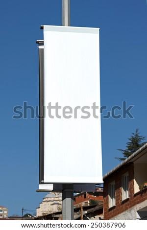 Blank outdoor banner