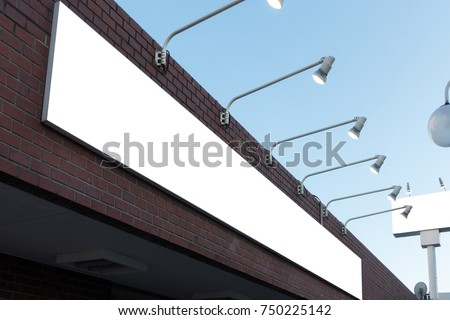 Blank outdoor bus and shop advertising shelter. Foto stock ©