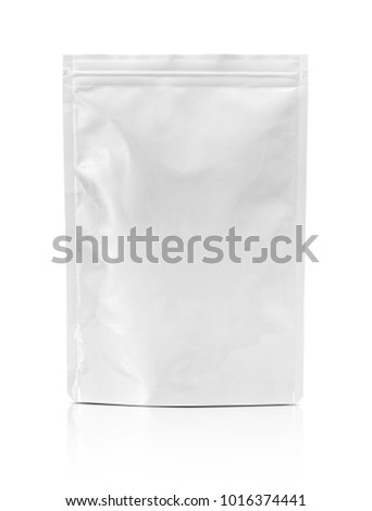 blank packaging aluminum foil pouch isolated on white background with clipping path ready for package design #1016374441