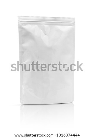 blank packaging aluminum foil pouch isolated on white background with clipping path ready for package design #1016374444