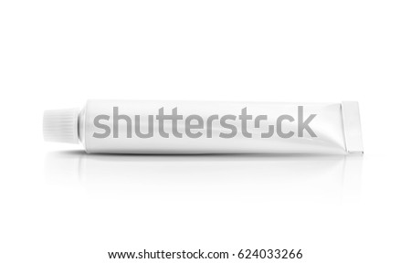 blank packaging toothpaste cream tube isolated on white background with clipping path