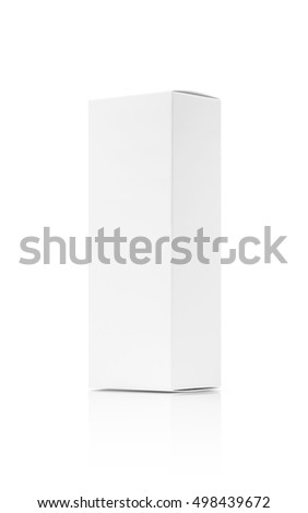 blank packaging white paper cardboard box isolated on white background with clipping path