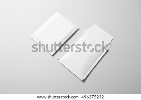 Blank padded Envelope Mock-up, ready to replace your design. #496275232