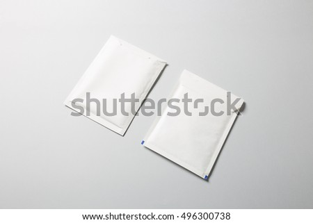 Blank padded Envelopes Mock-up, ready to replace your design. #496300738