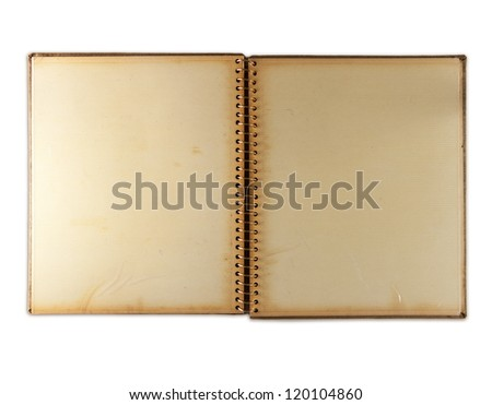 Blank page of an 1960s photo album,  isolated on white. Self-adhesive page type.