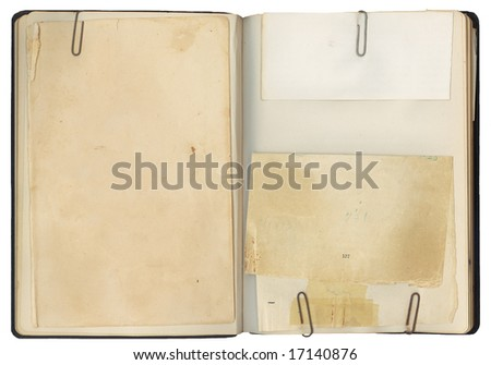 Blank pages in an antique book with copy-space for your own text.