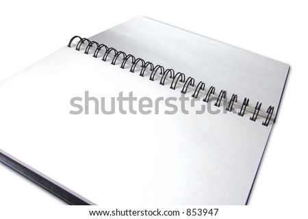 Blank pages of a sketchbook