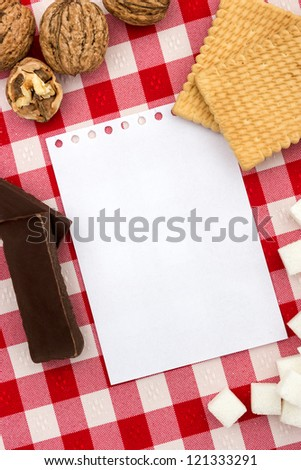 Blank paper and baking accessories