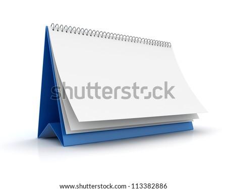 Blank paper calendar 3d render