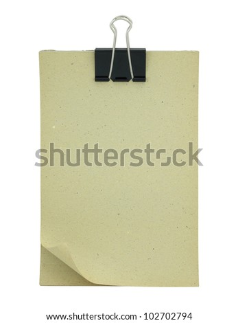 Blank paper clipboard isolated on white - stock photo