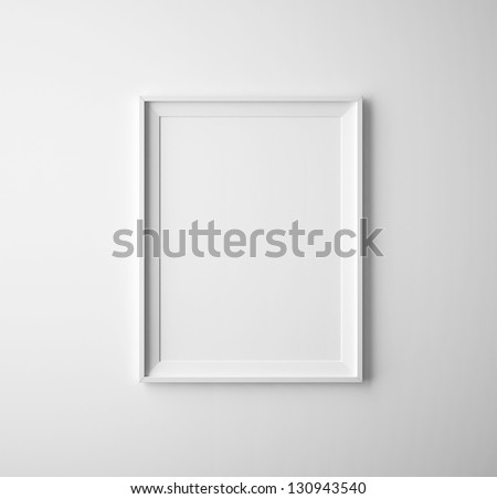 blank paper frames on white wall