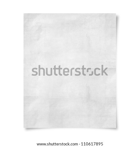 blank paper isolate on white background