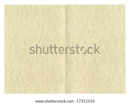 Blank paper parchment for greeting card or invitation or restaurant menu