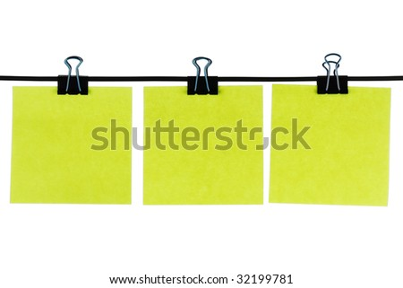Blank paper reminders on wire