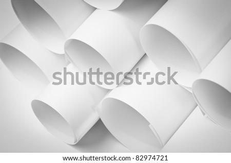 Blank paper rolls