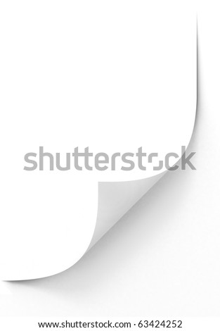 blank paper sheet - stock photo
