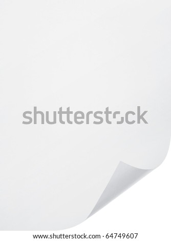 blank paper sheet on white background