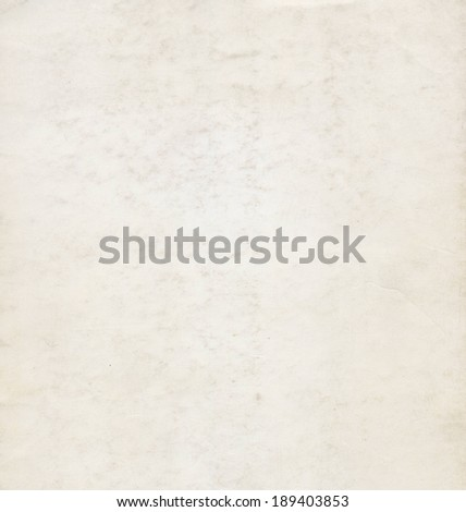 Blank paper sheet useful as a background