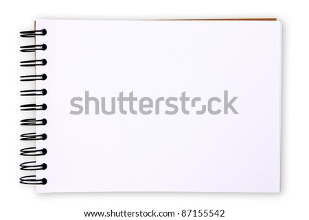 Blank paper table on white background (with clipping paths)