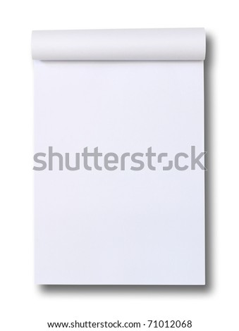 blank Paper tablet