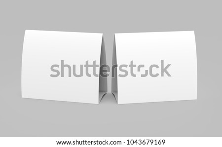 ... Blank paper tent template white tent cards set with empty space in 3d render ... & iconswebsite.com icons website Search icons  icon set web icons ...