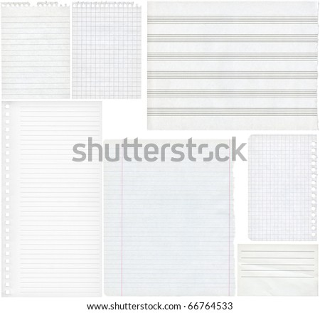 Blank paper textures for design, isolated