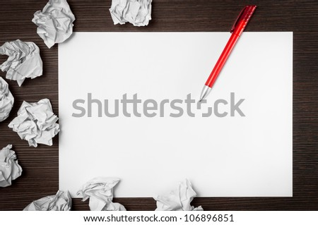Blank paper waiting for idea - stock photo