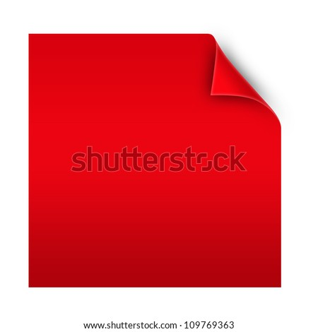blank paper with realistic page curl