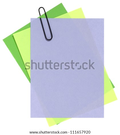 Blank papers for note