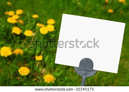 Blank pesticide application sign - stock photo