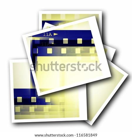 blank photo film strip isolated on white