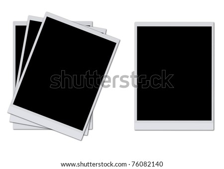 Blank photo frames isolated on white background