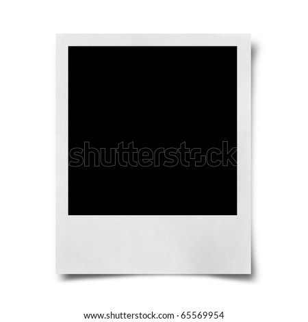 Blank photo isolated on white - stock photo