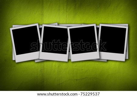 blank photo on green background