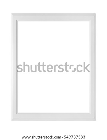 blank picture frame on a white background with clippinh path